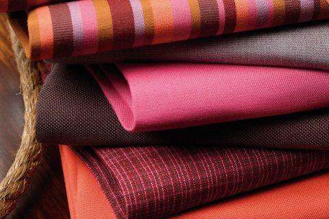 Outdoor seat cushion fabrics