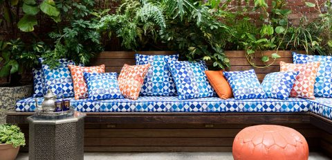 outdoor bench cushiion