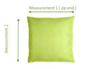 Floor Pillow or Throw Pillow with measurements