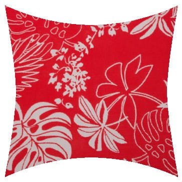 Charles Parsons Lagoon Passion Flower Outdoor Cushion