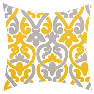 Premier Prints Outdoor Alex Yellowgray Outdoor Cushion