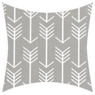 Premier Prints Outdoor Arrow Gray Outdoor Cushion