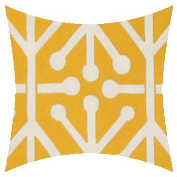 Premier Prints Outdoor Aruba Citrusyellow Outdoor Cushion