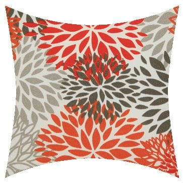 Premier Prints Outdoor Blooms Salmon Outdoor Cushion