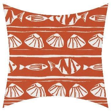 Premier Prints Outdoor Caicos Orange Outdoor Cushion