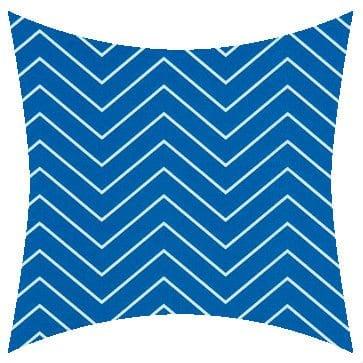 Premier Prints Outdoor Chevron Cobalt Outdoor Cushion