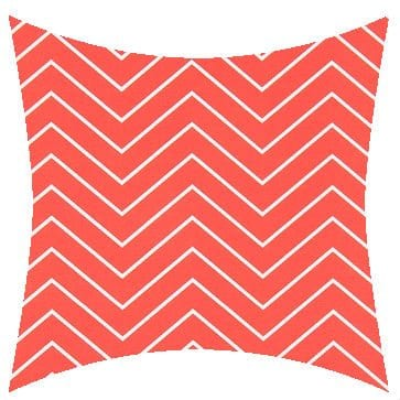 Premier Prints Outdoor Chevron Indian Coral Outdoor Cushion