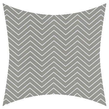 Premier Prints Outdoor Chevron Light Gray Outdoor Cushion