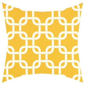 Premier Prints Outdoor Gotcha Yellow Outdoor Cushion