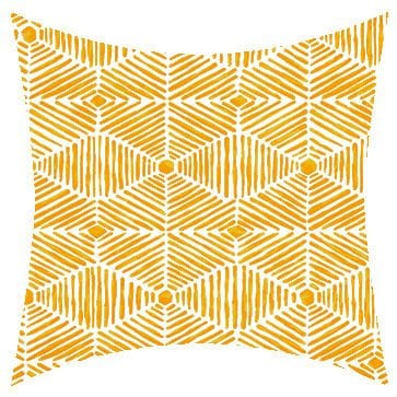 Premier Prints Outdoor Heni Citrus Yellow Outdoor Cushion
