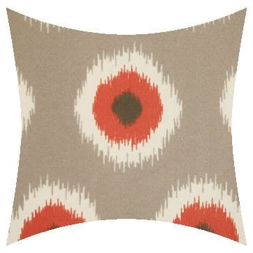 Premier Prints Outdoor Ikat Domino Salmon Outdoor Cushion