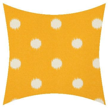 Premier Prints Outdoor Ikat Dots Citrus Yellow Outdoor Cushion