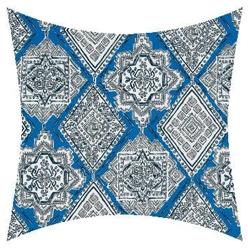 Premier Prints Outdoor Milan Cobalt Outdoor Cushion