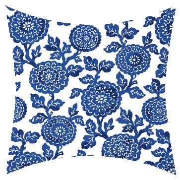 Premier Prints Outdoor Mums Cobalt Outdoor Cushion