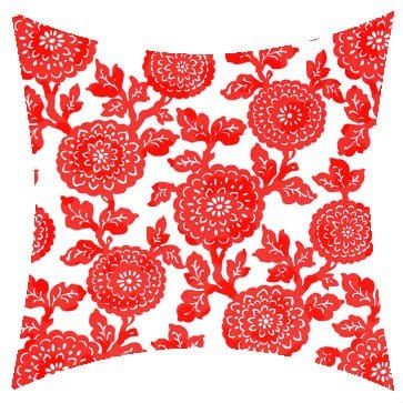 Premier Prints Outdoor Mums Indian Coral Outdoor Cushion