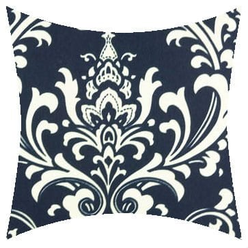 Premier Prints Outdoor Ozbourne Deep Blue Outdoor Cushion