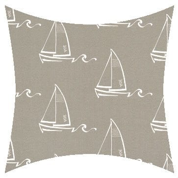 Premier Prints Outdoor Seaton Oyster Outdoor Cushion