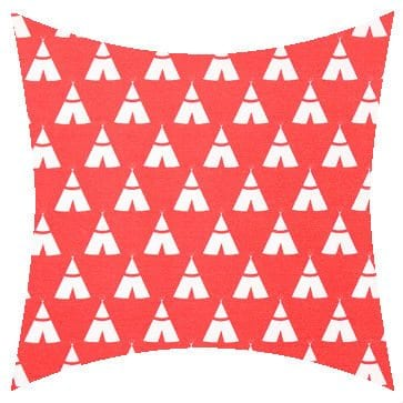 Premier Prints Outdoor Teepee Indian Coral Outdoor Cushion
