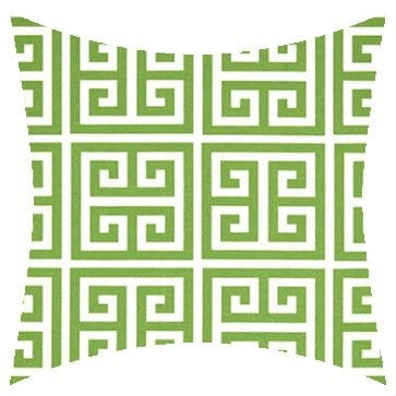 Premier Prints Outdoor Towers Bay Green Outdoor Cushion