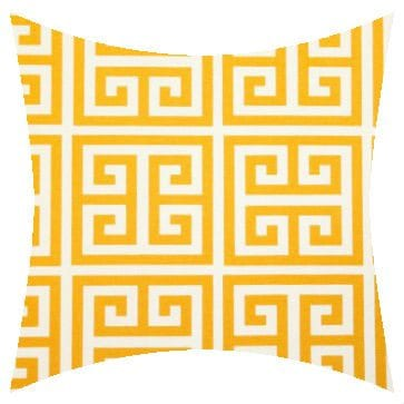 Premier Prints Outdoor Towers Citrus Yellow Outdoor Cushion