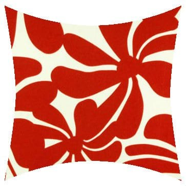 Premier Prints Outdoor Twirly American Red Outdoor Cushion