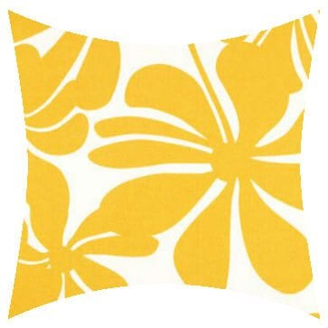 Premier Prints Outdoor Twirly Yellow Outdoor Cushion