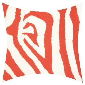 Premier Prints Outdoor Zebra Salmon Outdoor Cushion