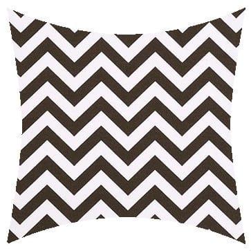 Premier Prints Outdoor Zigzag Bay Brown Outdoor Cushion