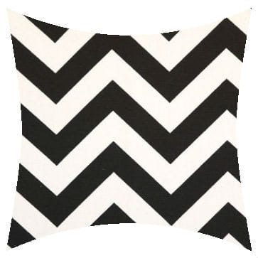 Premier Prints Outdoor Zigzag Black Outdoor Cushion