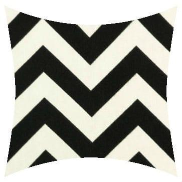 Premier Prints Outdoor Zigzag Ebony Outdoor Cushion