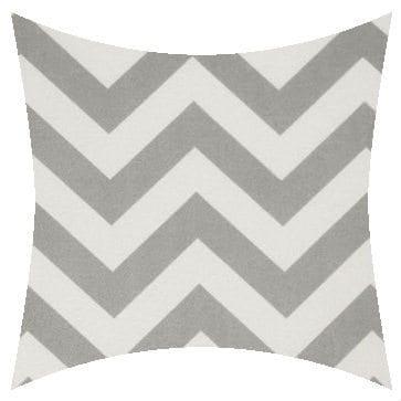 Premier Prints Outdoor Zigzag Gray Outdoor Cushion