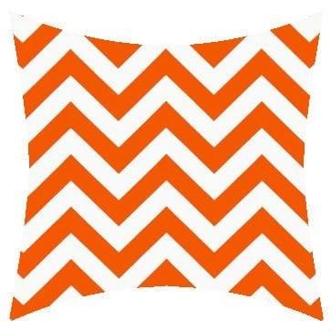Premier Prints Outdoor Zigzag Orange Outdoor Cushion