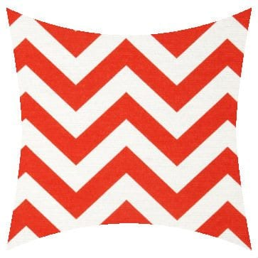 Premier Prints Outdoor Zigzag Salmon Outdoor Cushion