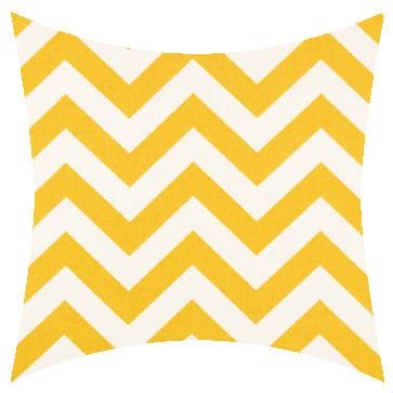 Premier Prints Outdoor Zigzag Yellow Outdoor Cushion