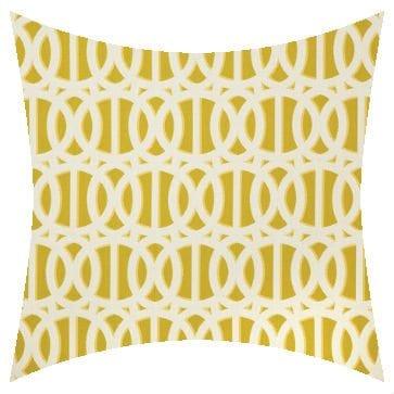 Sunbrella Reflex Citron Outdoor Cushion