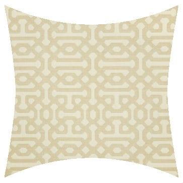 Sunbrella Fretwork Flax Outdoor Cushion