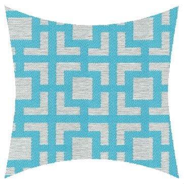 James Dunlop Pegasus Mykanos Aqua Outdoor Cushion