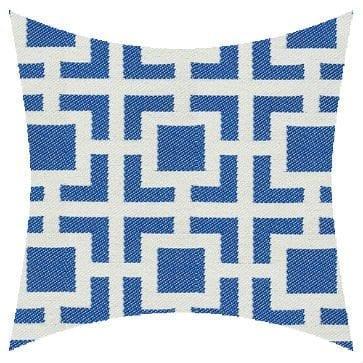 James Dunlop Pegasus Mykanos Azure Reversed Outdoor Cushion
