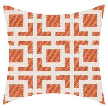 James Dunlop Pegasus Mykanos Coral Reversed Outdoor Cushion