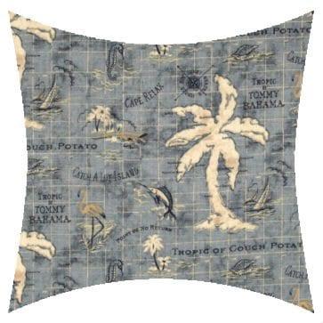 Tommy Bahama Island Song Ocean Outdoor Cushion