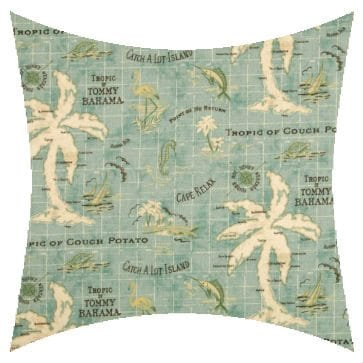 Tommy Bahama Island Song Surf Outdoor Cushion