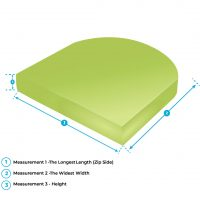 curved seat cushion